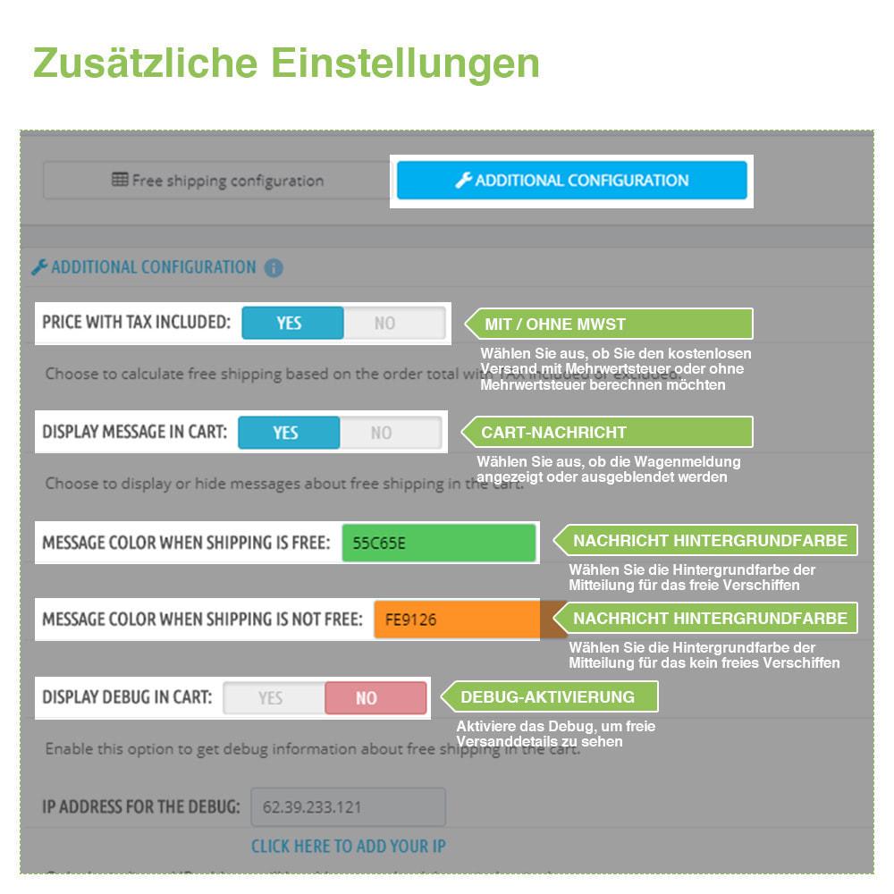 module - Versandkosten - Kostenloser Versand nach Zone, Träger, Preis, Gewicht - 5