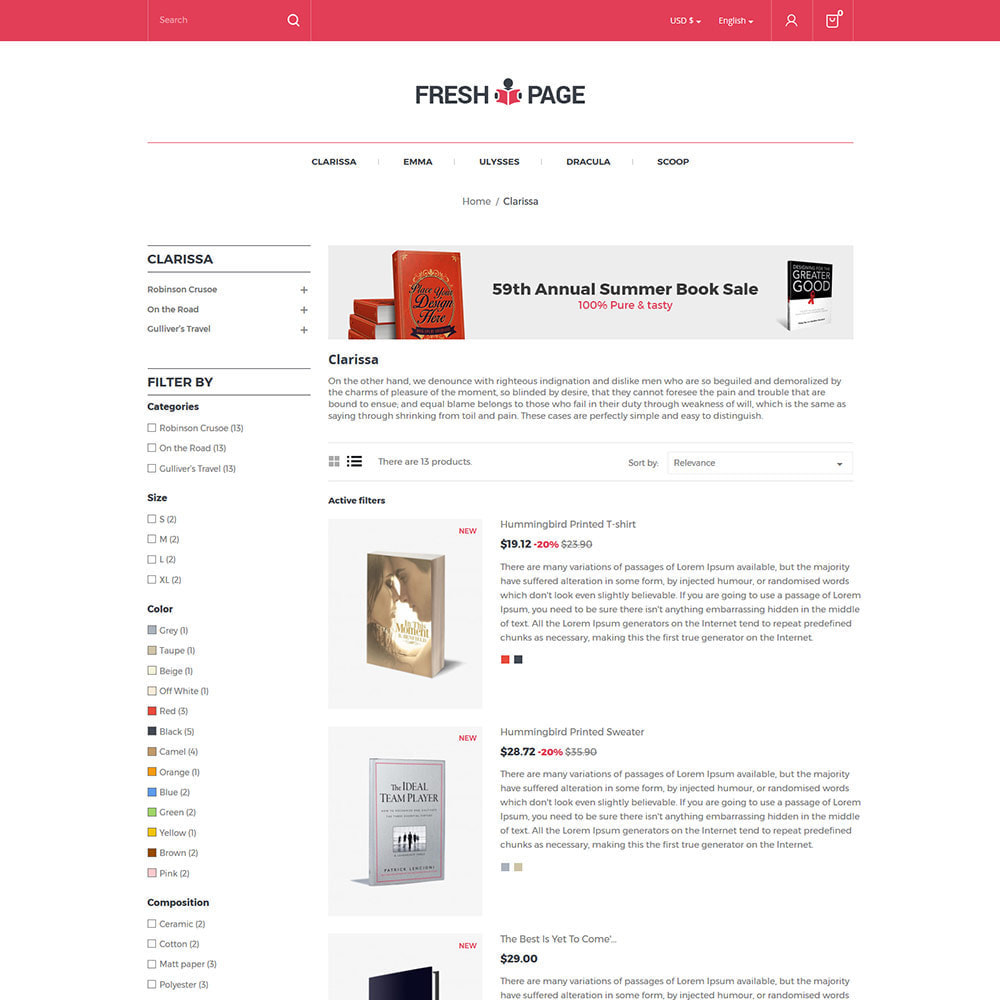 theme - Art & Culture - Fresh Page Book - Ebook Library Store - 4