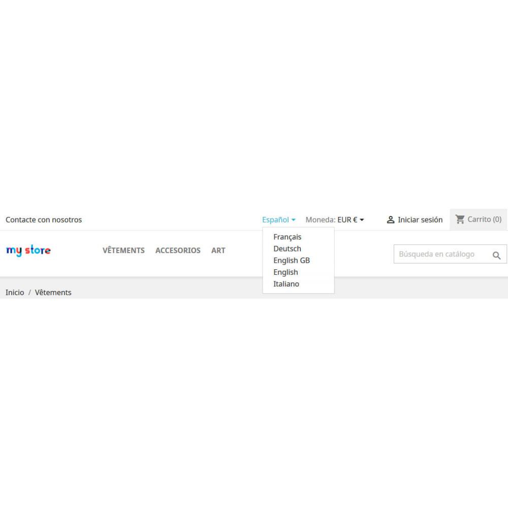 module - Internacionalización y Localización - Selector de idioma de MultiStore Widget - 3