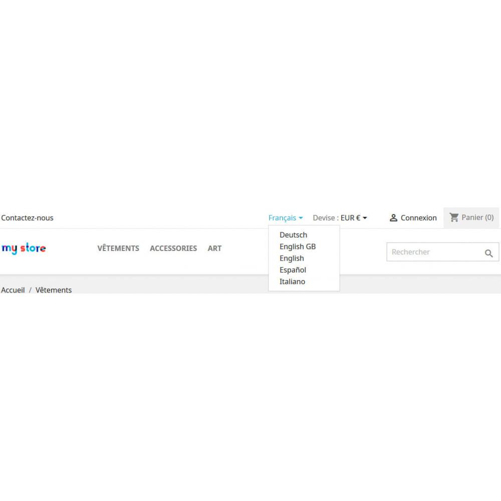 module - Международный рынок и геолокация - Multi Store Language Selector виджет - 3
