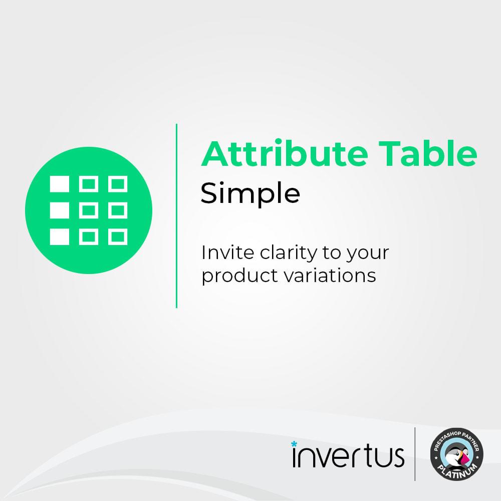 module - Combinazioni & Personalizzazione Prodotti - Attribute Table Simple - For Product - 1