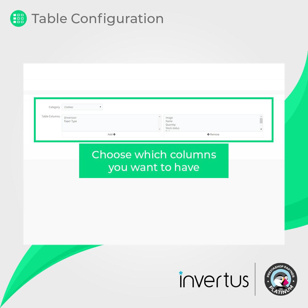 module - Combinazioni & Personalizzazione Prodotti - Attribute Table Simple - For Product - 5