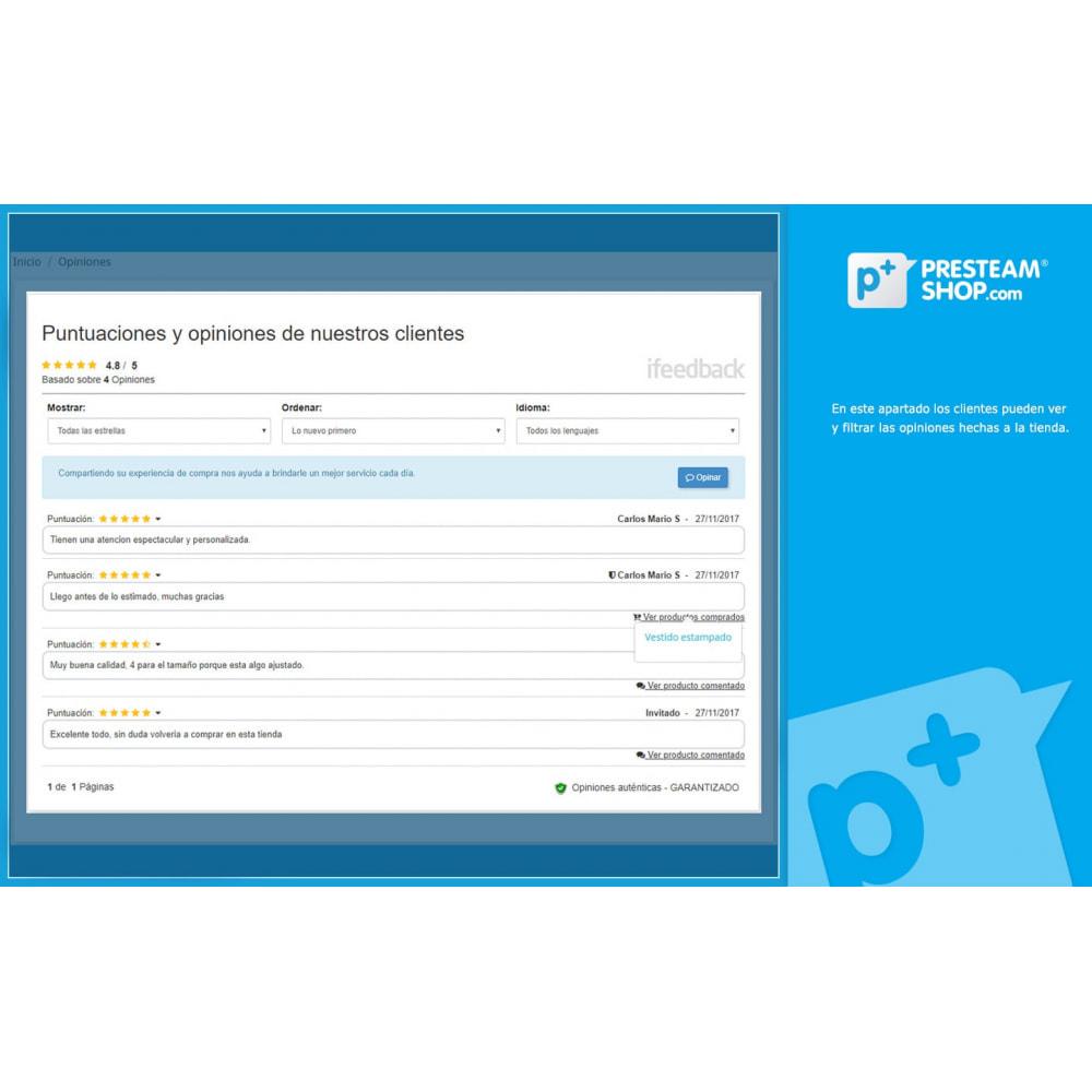 module - Comentarios de clientes - iFeedback - Valoraciónes avanzadas - 5