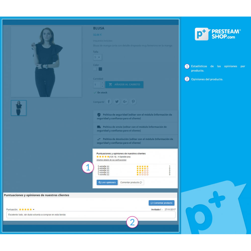 module - Comentarios de clientes - iFeedback - Valoraciónes avanzadas - 6