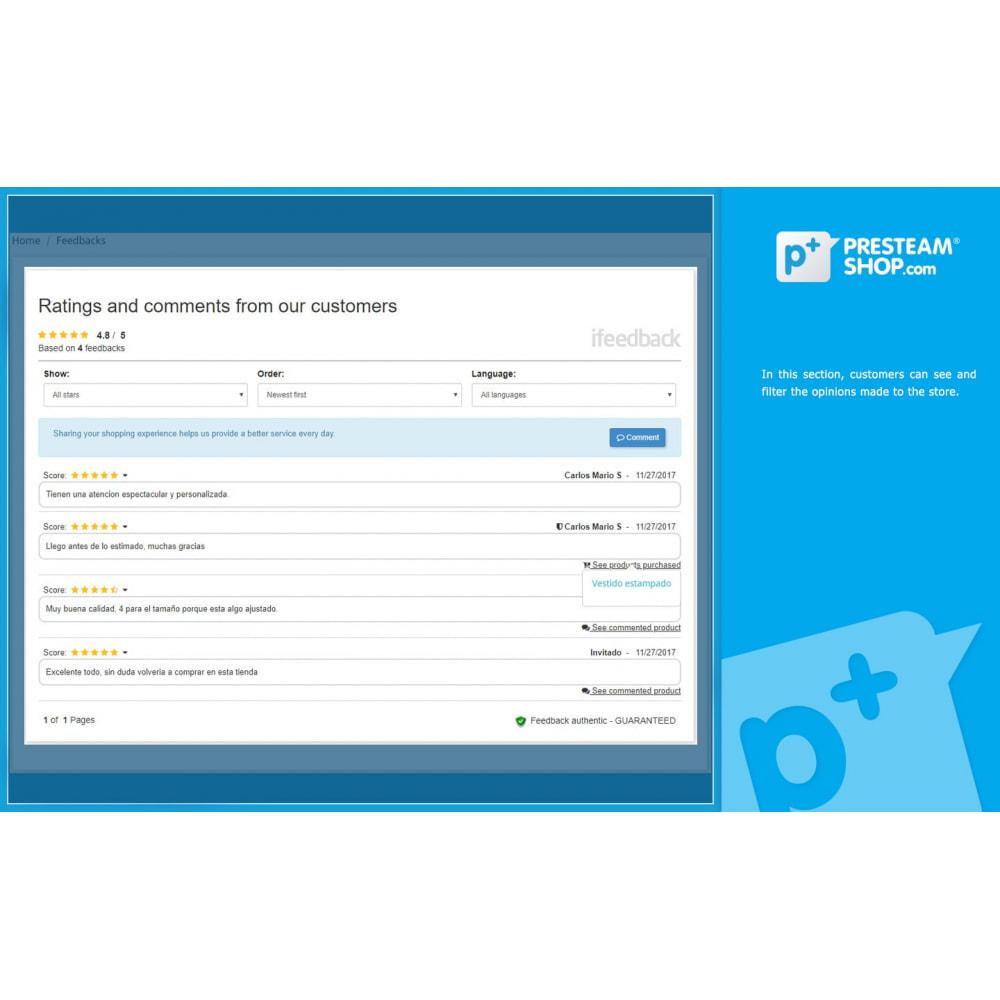 module - Отзывы клиентов - iFeedback - Advanced ratings - 5