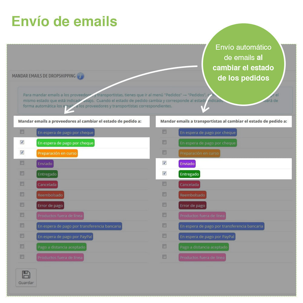 module - Dropshipping - Dropshipping – Emails a Proveedores y Transportistas - 2
