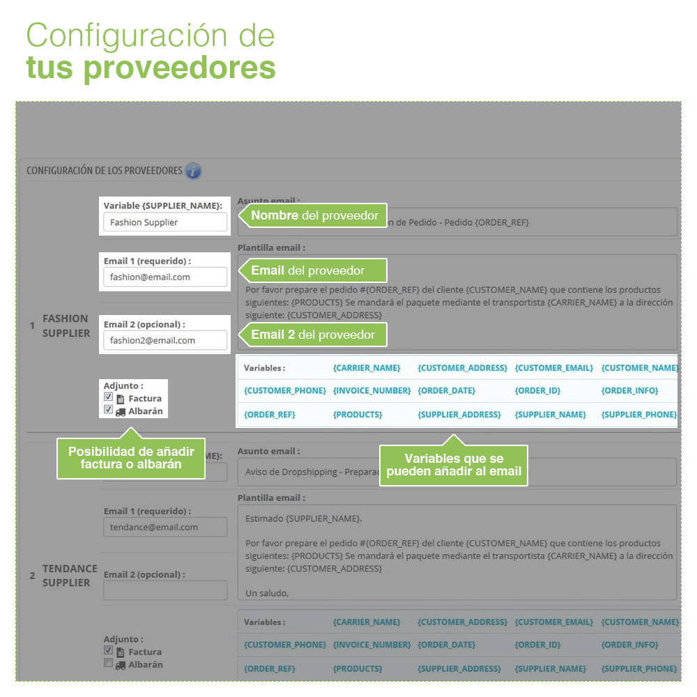 module - Dropshipping - Dropshipping – Emails a Proveedores y Transportistas - 3