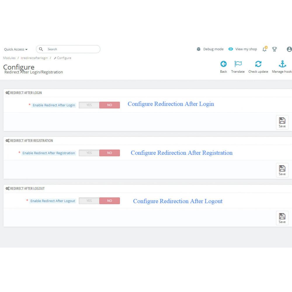 module - URL & Omleidingen - Redirect Customer After Sign in,Sing Out & Registration - 2