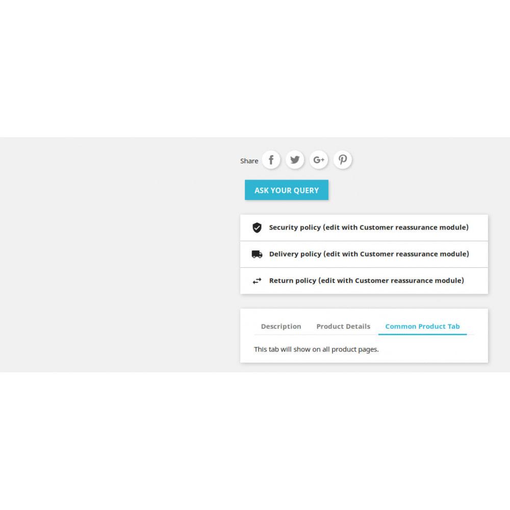 module - Dodatkowe informacje & Zakładka produktu - Product Additional Information, Extra Tabs and Enquiry - 4