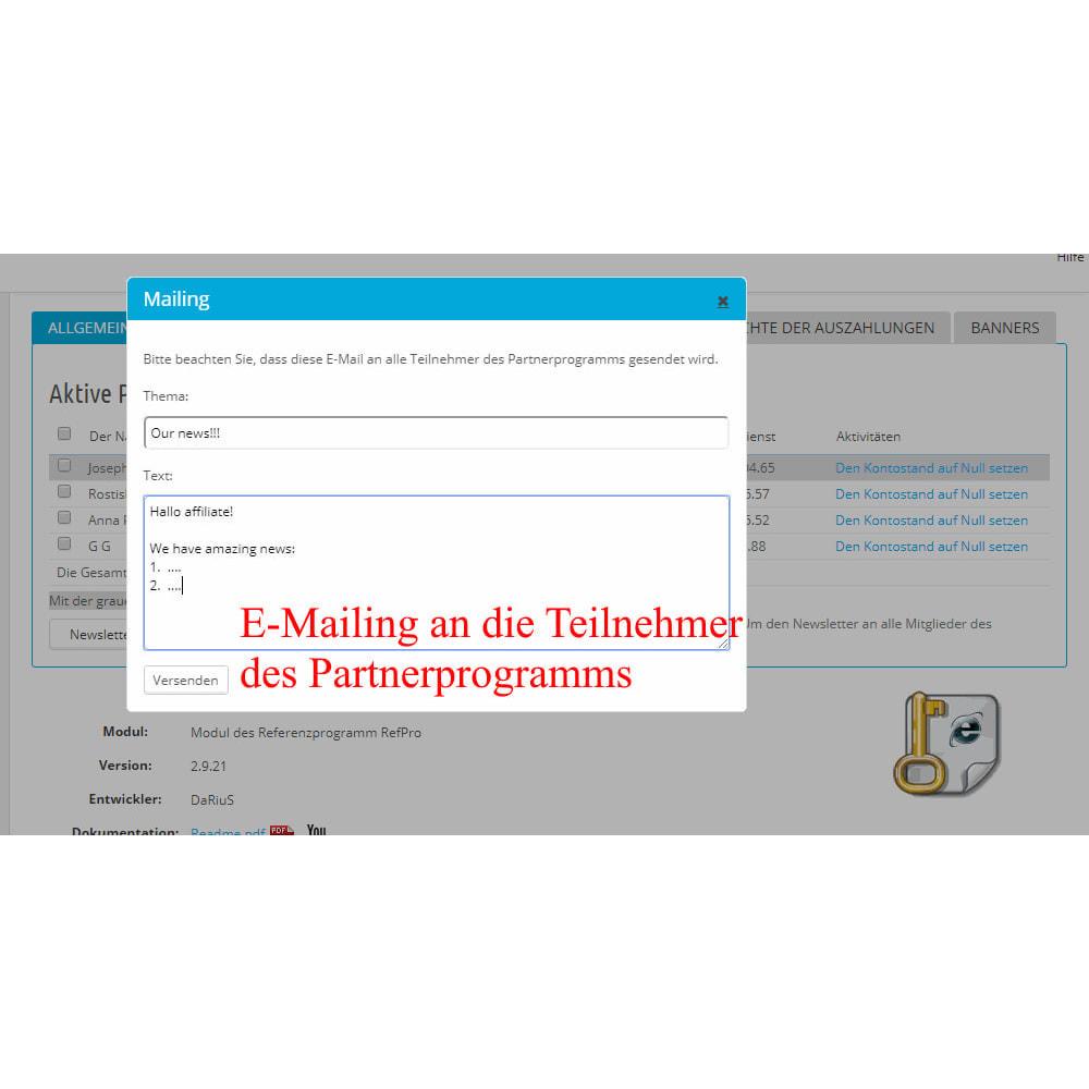 module - SEA SEM (Bezahlte Werbung) & Affiliate Plattformen - Das erweiterte Referenzprogramm RefPRO - 14