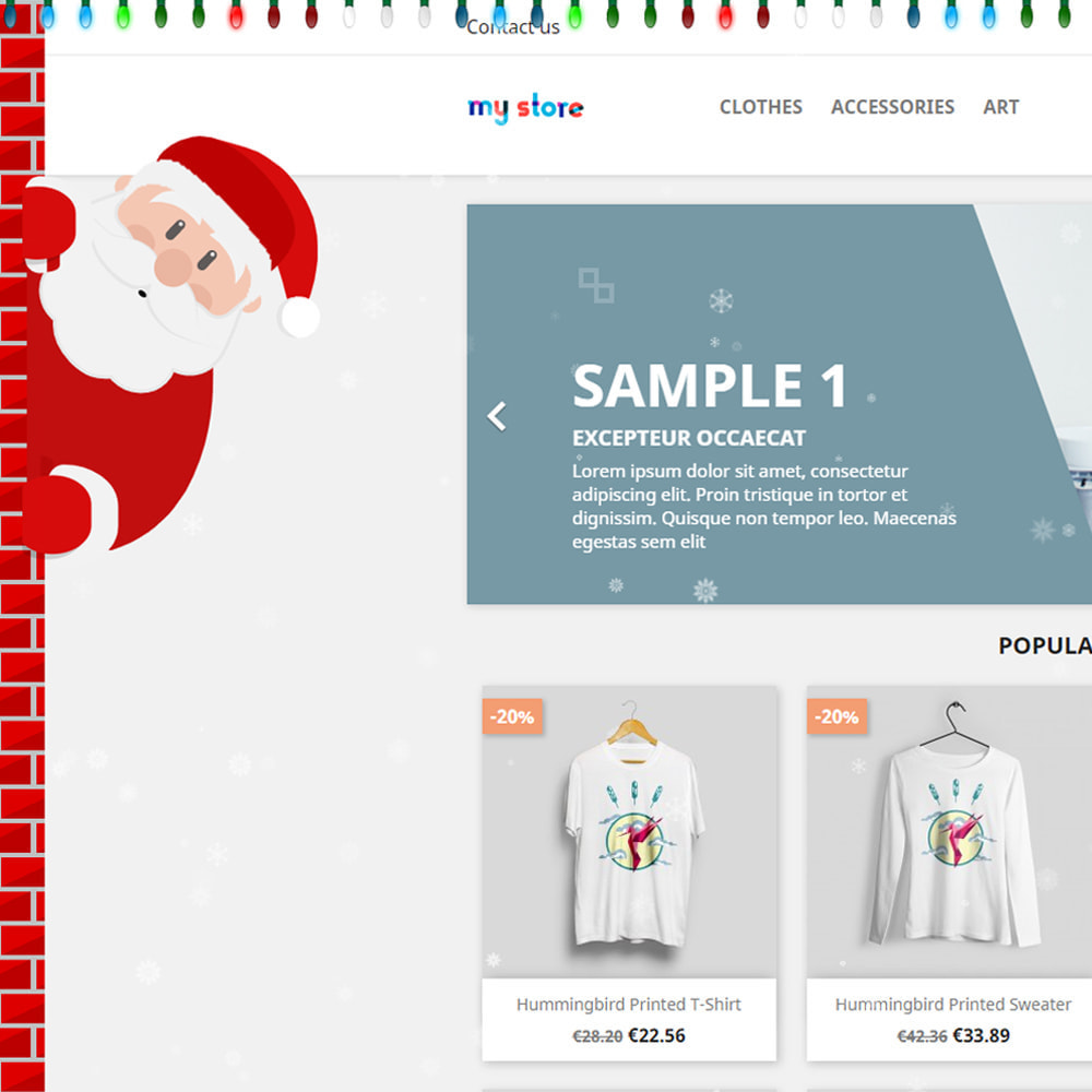 module - Individuelle Seitengestaltung - Snowfall on shop / new year / Christmas - 2