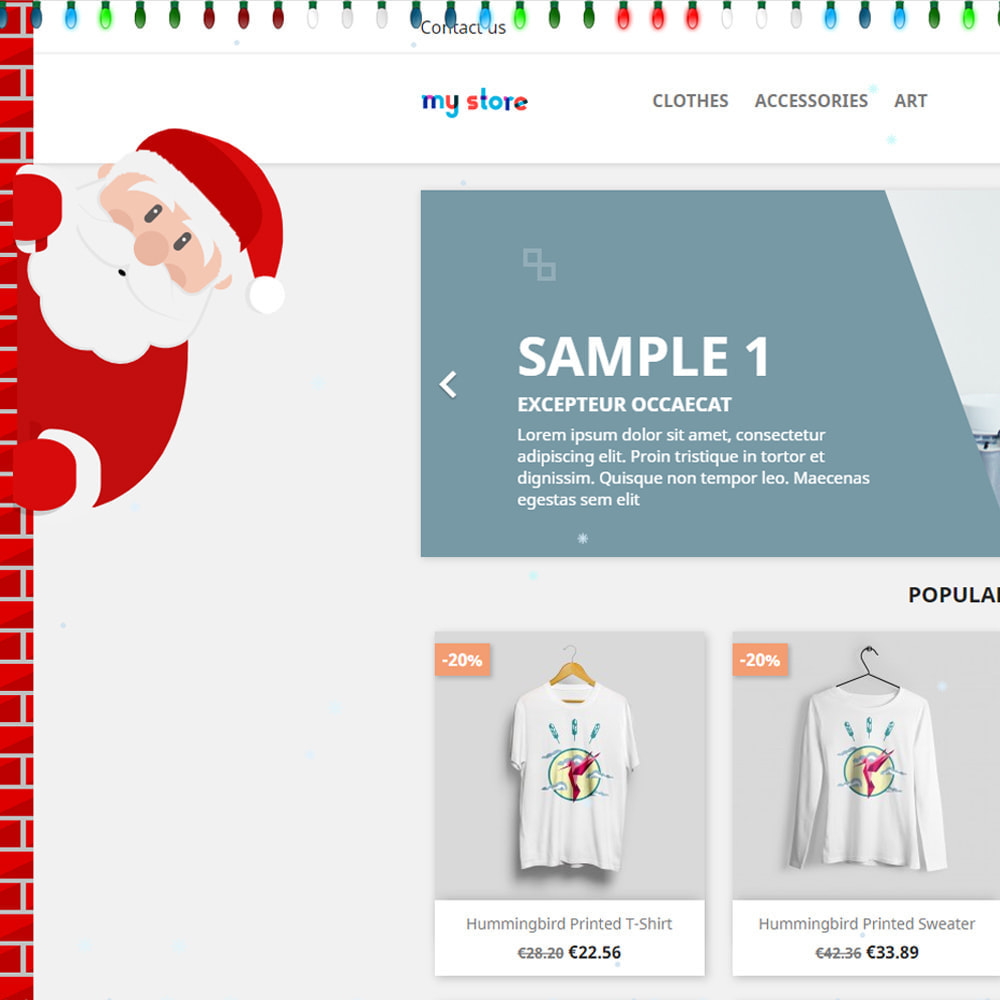 module - Individuelle Seitengestaltung - Snowfall on shop / new year / Christmas - 3