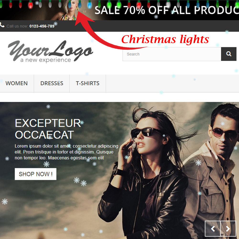module - Individuelle Seitengestaltung - Snowfall on shop / new year / Christmas - 5