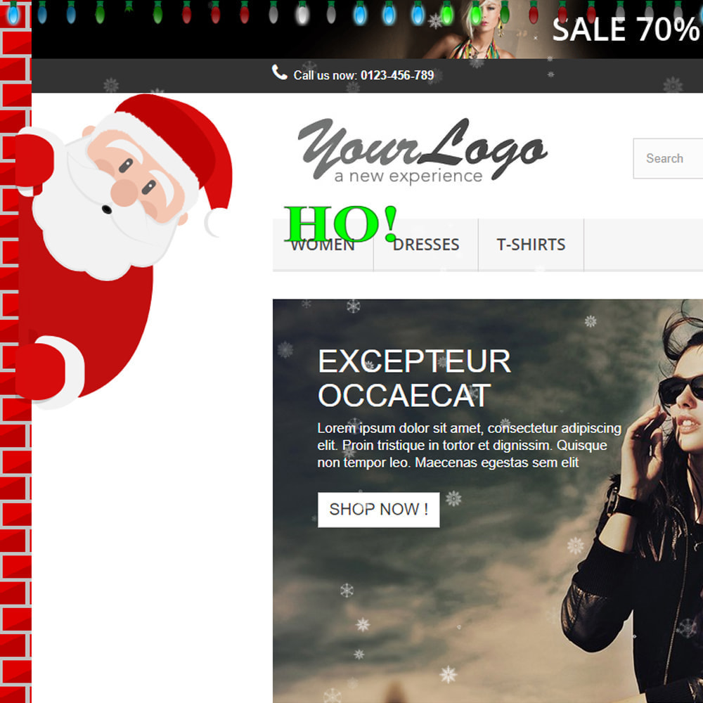 module - Individuelle Seitengestaltung - Snowfall on shop / new year / Christmas - 8