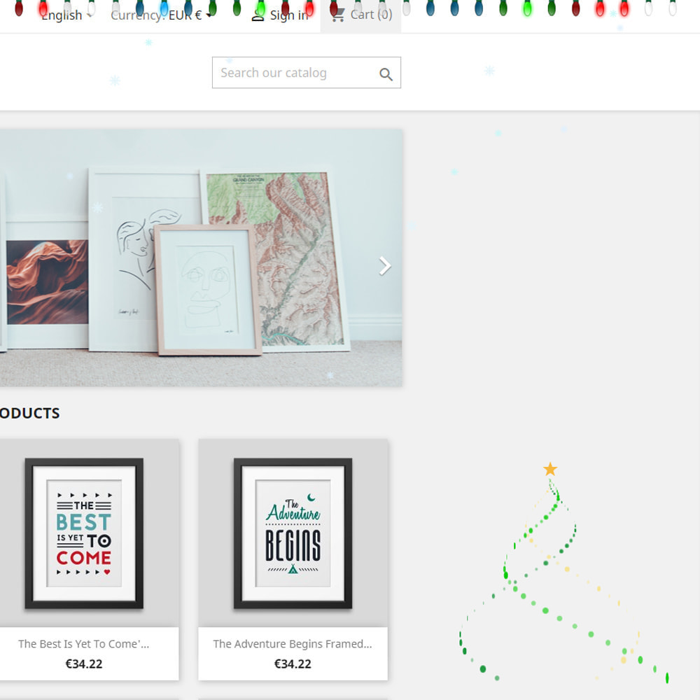 module - Individuelle Seitengestaltung - Snowfall on shop / new year / Christmas - 11