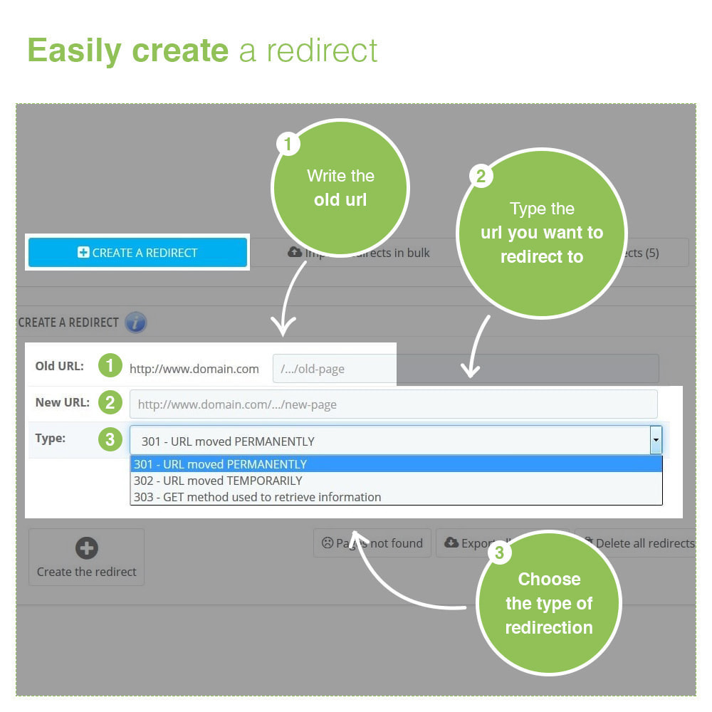 module - URL & Redirects - URL Redirects 301, 302, 303 and 404 – SEO - 2