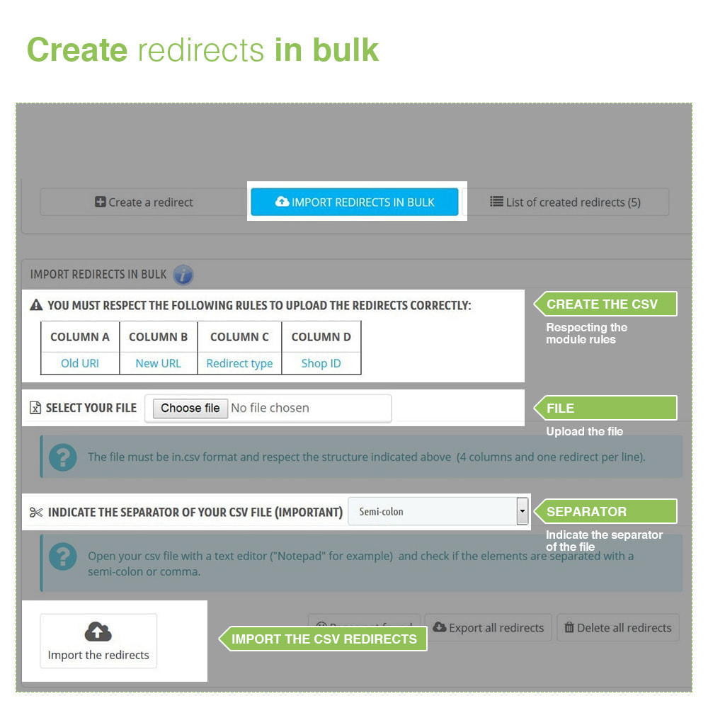module - URL & Redirects - URL Redirects 301, 302, 303 and 404 – SEO - 3