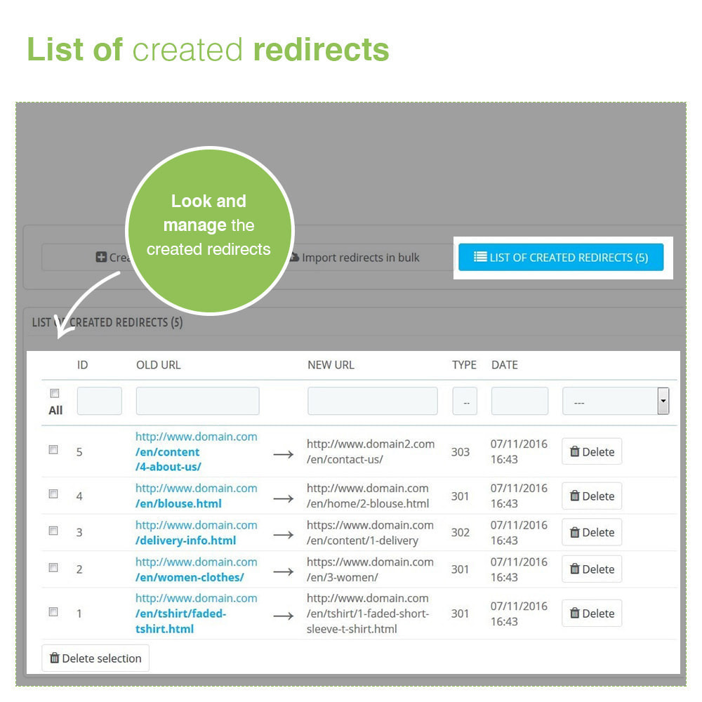 module - URL & Redirects - URL Redirects 301, 302, 303 and 404 – SEO - 4