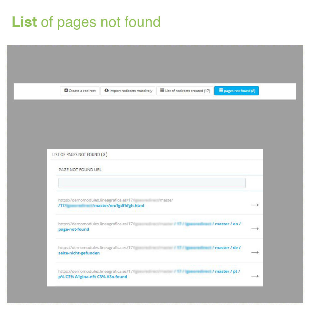 module - URL & Redirects - URL Redirects 301, 302, 303 and 404 – SEO - 6