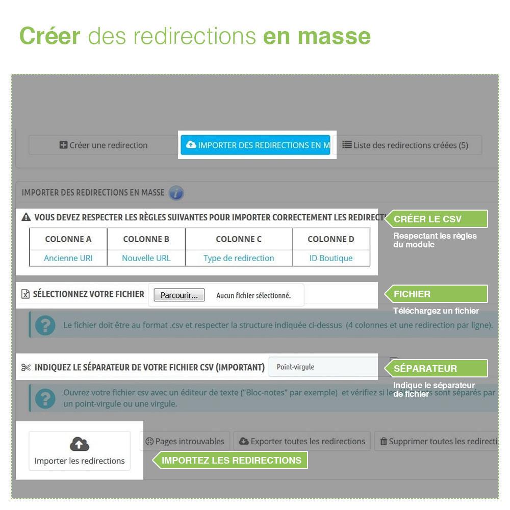 module - URL & Redirections - Redirections 301, 302, 303 des URLs et 404 - SEO - 3