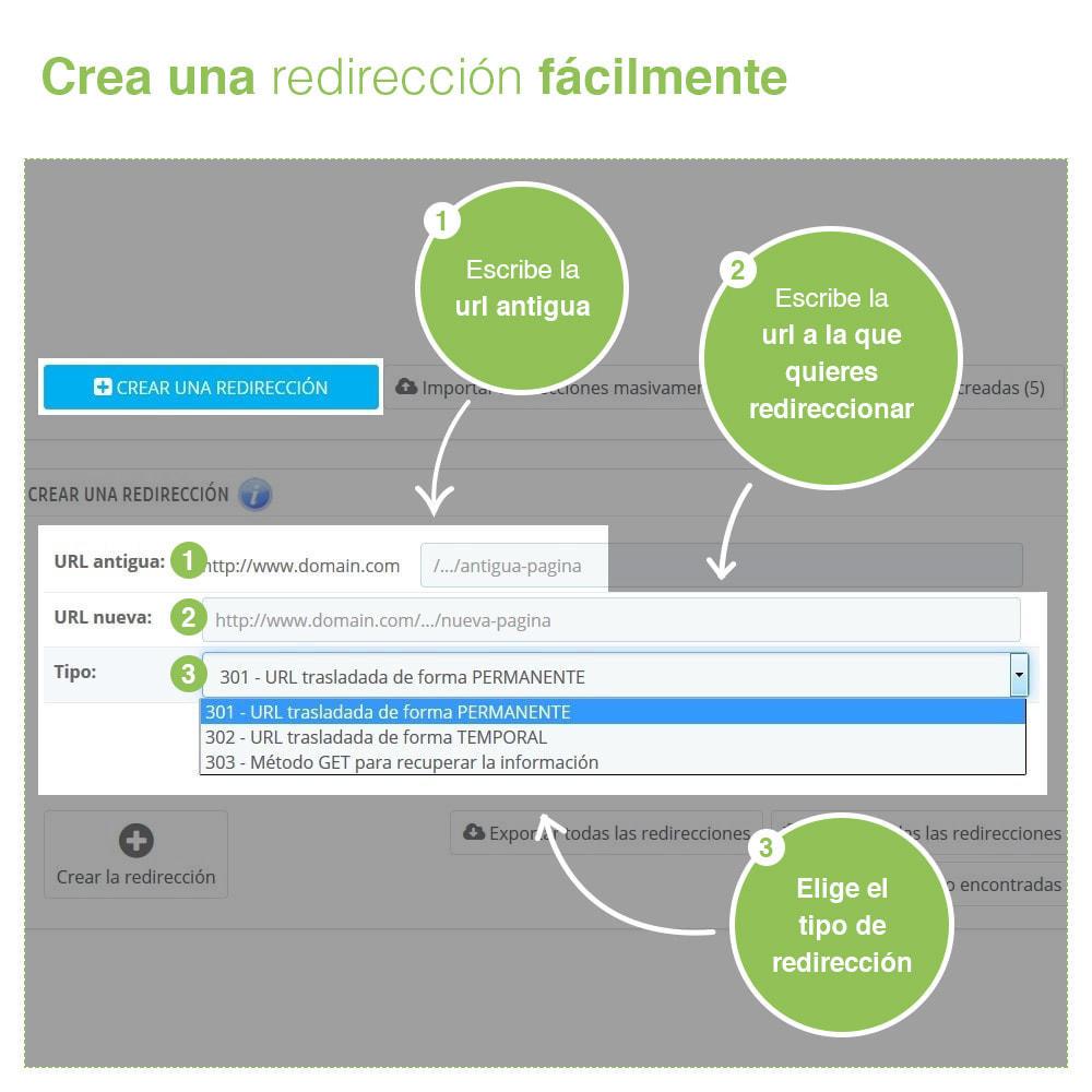 module - URL y Redirecciones - Redirecciones 301, 302, 303 de URLs y 404 - SEO - 2