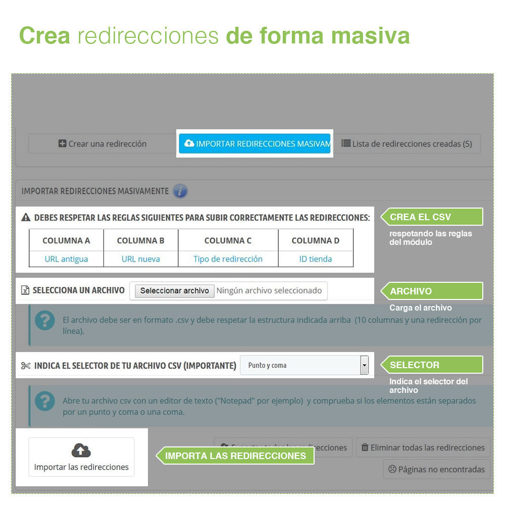 module - URL y Redirecciones - Redirecciones 301, 302, 303 de URLs y 404 - SEO - 3