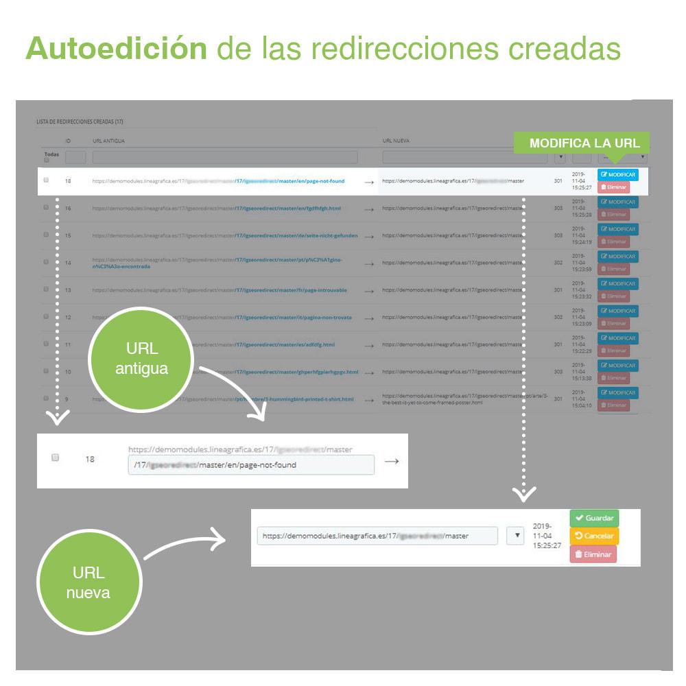 module - URL y Redirecciones - Redirecciones 301, 302, 303 de URLs y 404 - SEO - 5