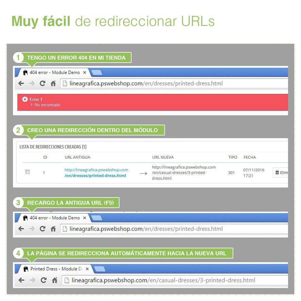 module - URL y Redirecciones - Redirecciones 301, 302, 303 de URLs y 404 - SEO - 8
