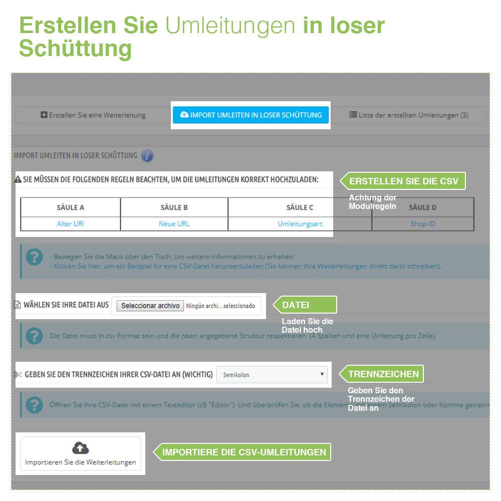 module - URL & Redirects - 301, 302 und 303 URL Weiterleitungen und 404 - SEO - 3