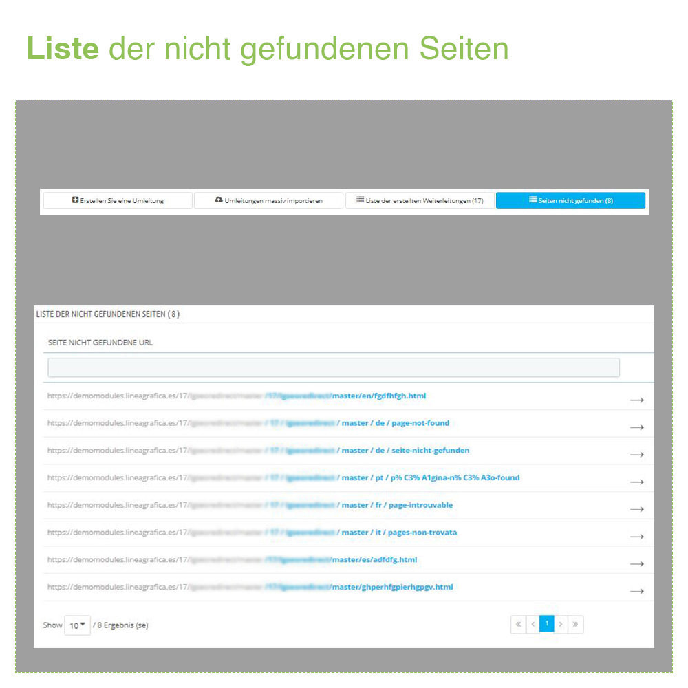 module - URL & Redirects - 301, 302 und 303 URL Weiterleitungen und 404 - SEO - 6