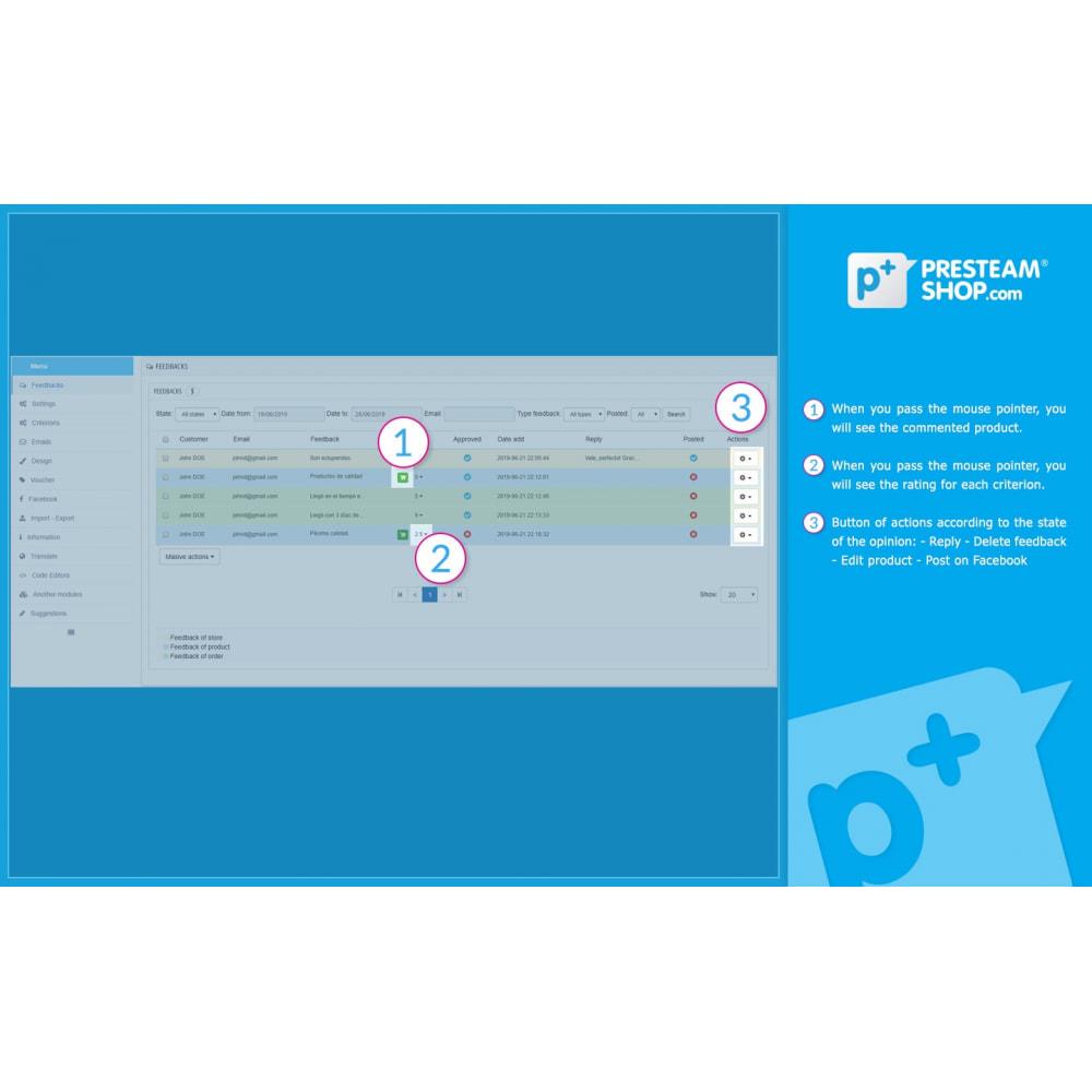 module - Отзывы клиентов - iFeedback - Advanced ratings - 17