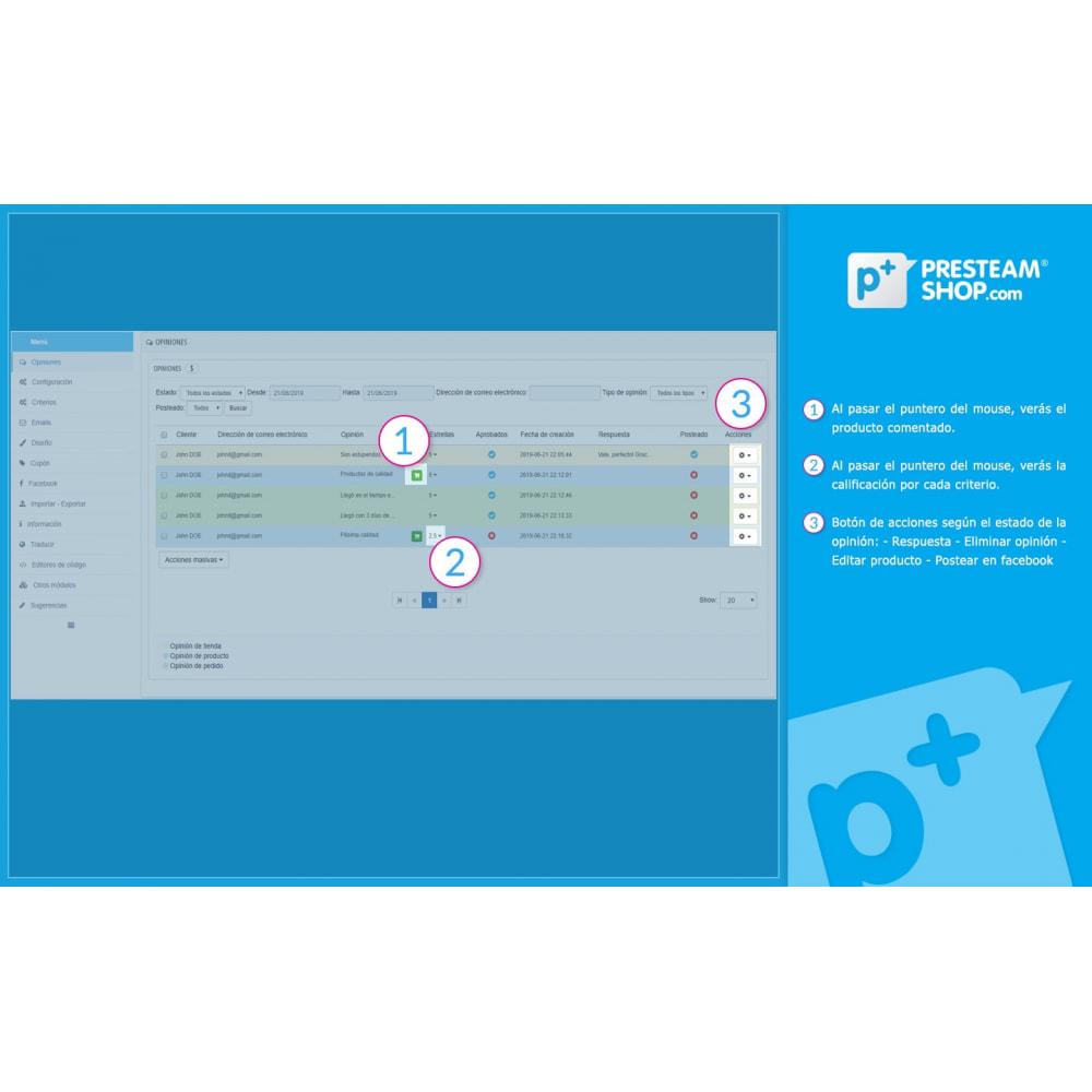 module - Comentarios de clientes - iFeedback - Valoraciónes avanzadas - 17