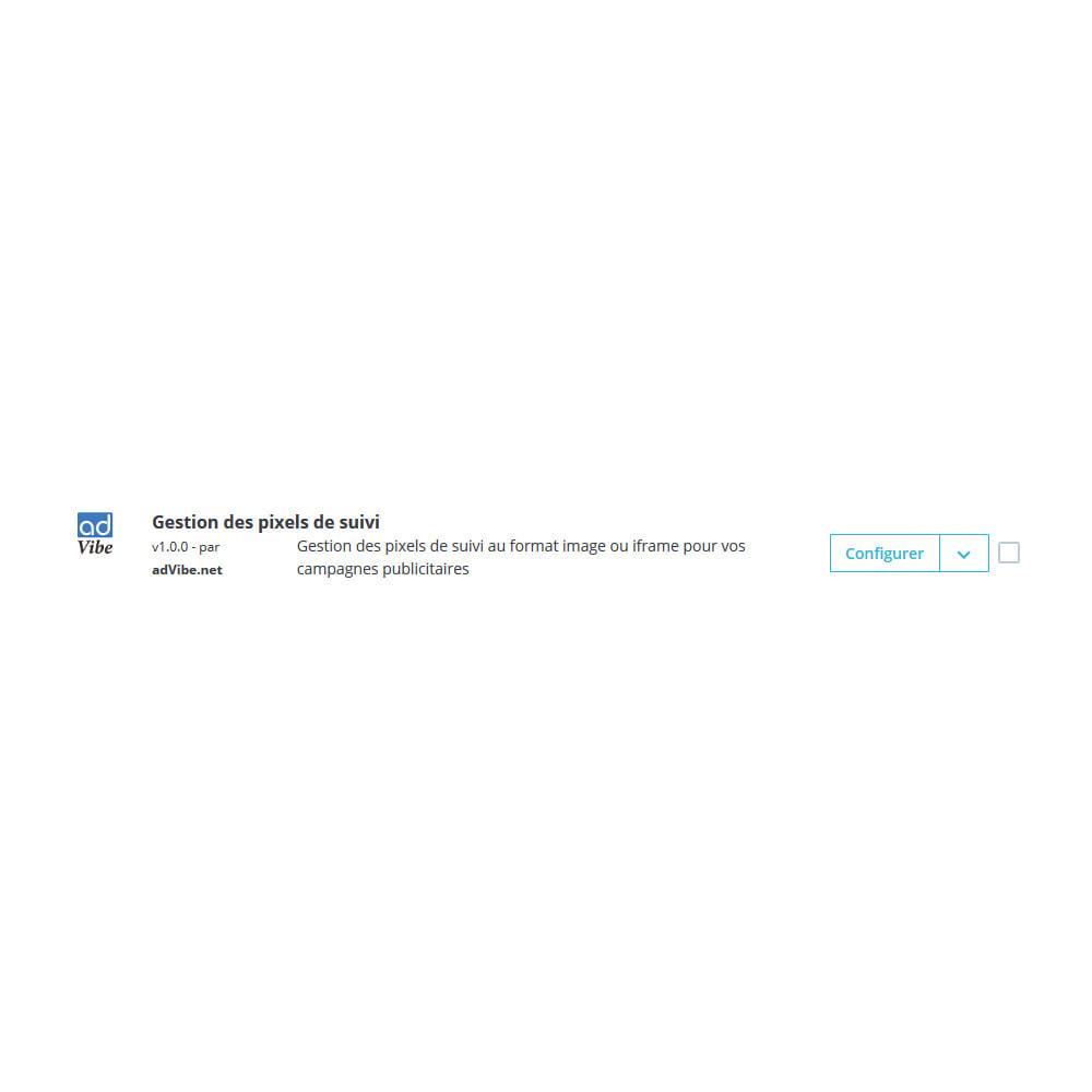 module - Promos & Marketing - Gestion des pixels de suivi - 1