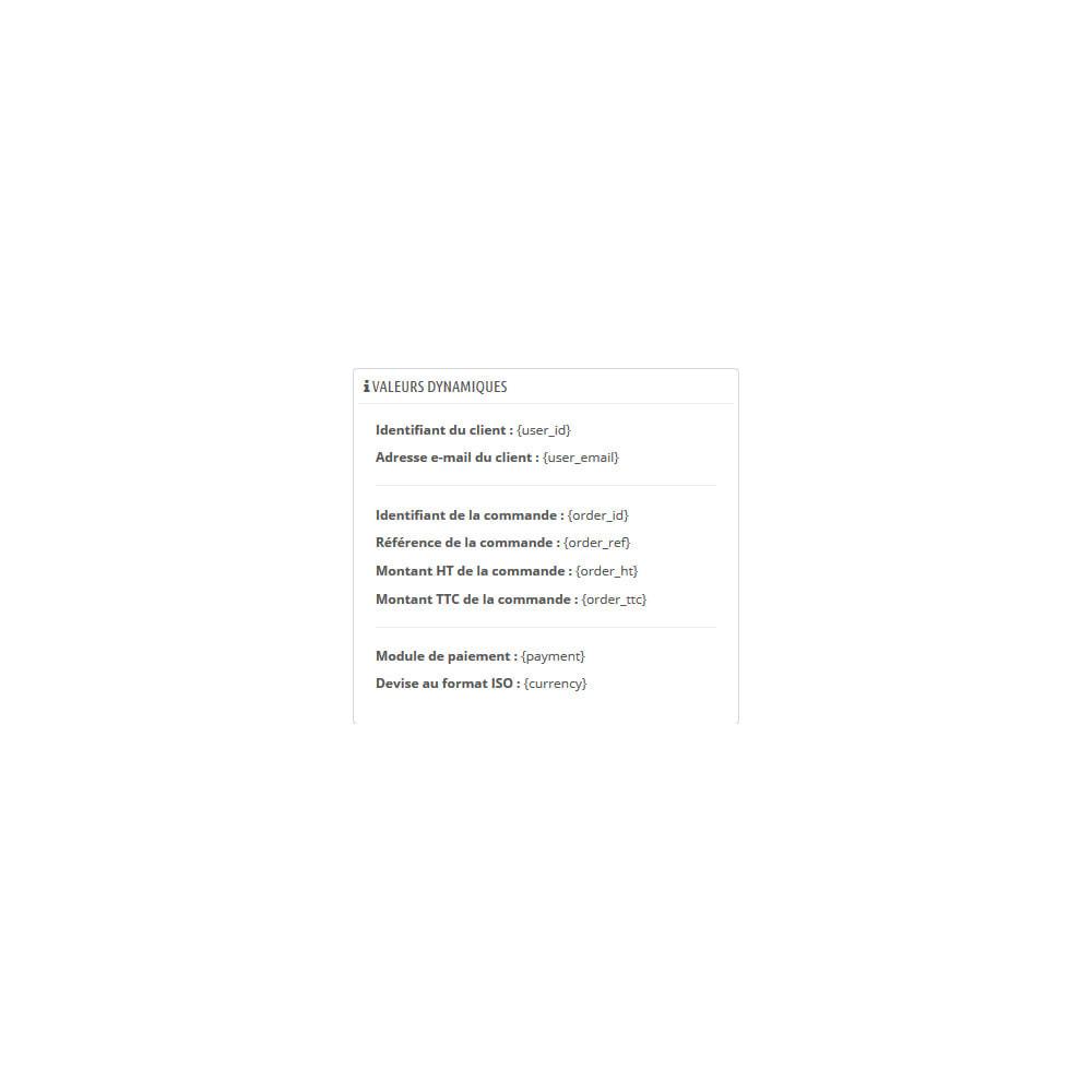 module - Promos & Marketing - Gestion des pixels de suivi - 3