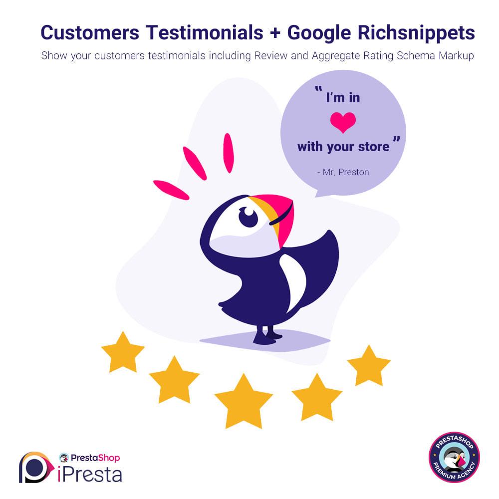 module - Customer Reviews - Testimonials + Google Richsnippets (Schema Markup) - 1
