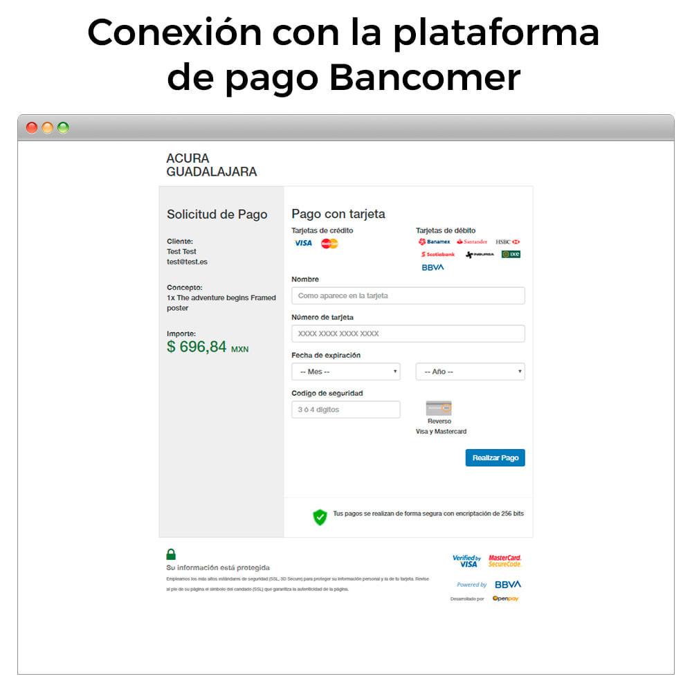 module - Pago con Tarjeta o Carteras digitales - BBVA Bancomer México - Pago con tarjeta (TPV Virtual) - 3
