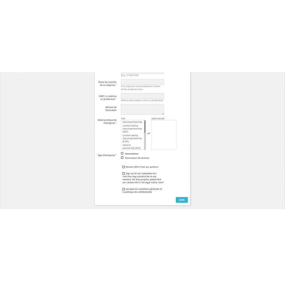 module - Inscripción y Proceso del pedido - Campos de Registro Personalizados - 3