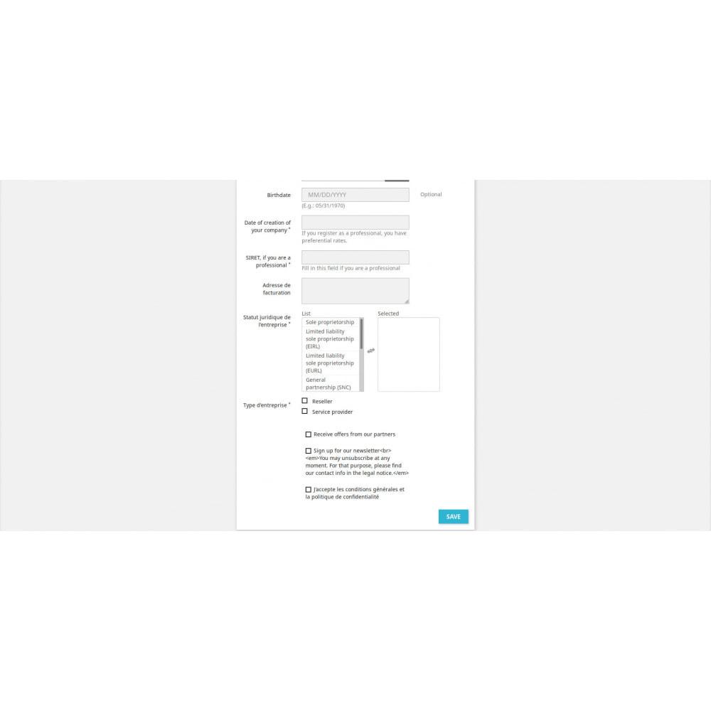 module - Anmeldung und Bestellvorgang - Benutzerdefinierte Registrierungsfelder - 3