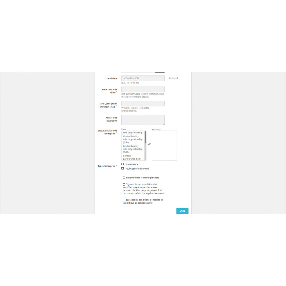 module - Procedury składania zamówień - Niestandardowe Pola Rejestracji - 3