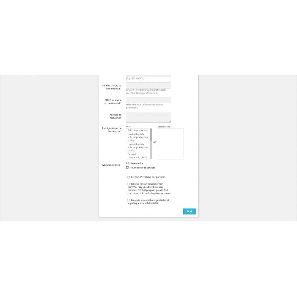 module - Cadastro e Processo de Pedido - Campos de Registro Personalizados - 3