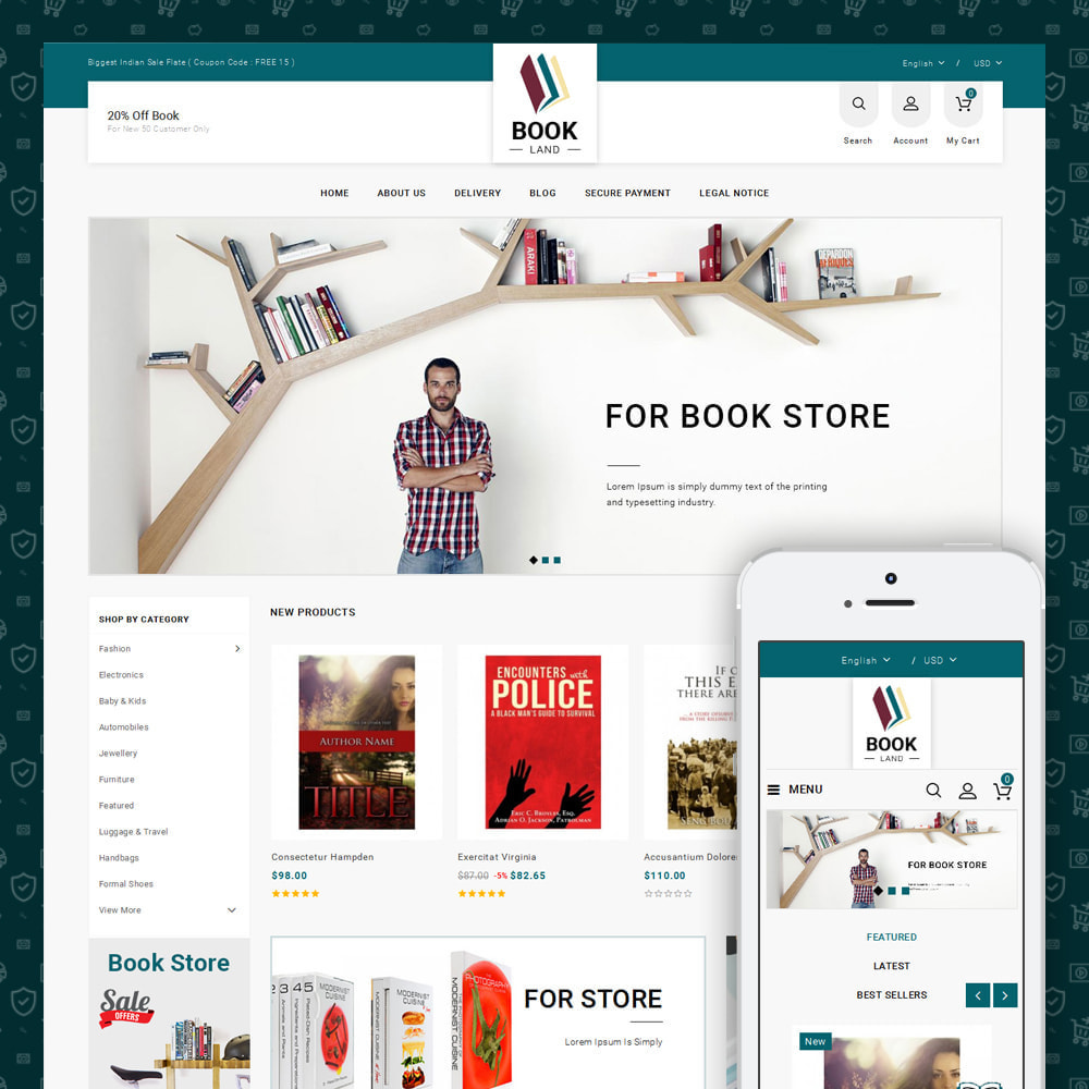 theme - Sports, Activities & Travel - BookLand - Books Store - 1