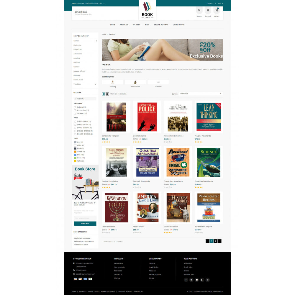 theme - Sports, Activities & Travel - BookLand - Books Store - 3