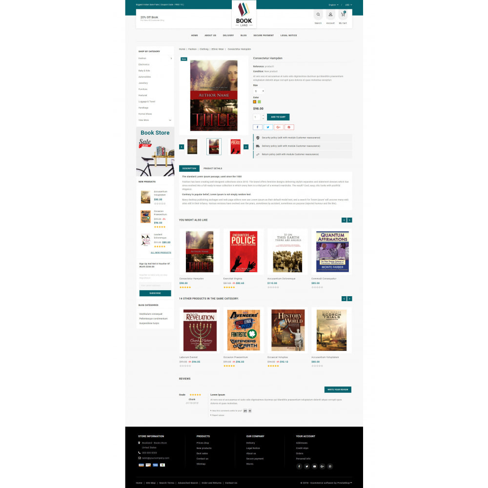 theme - Sports, Activities & Travel - BookLand - Books Store - 5