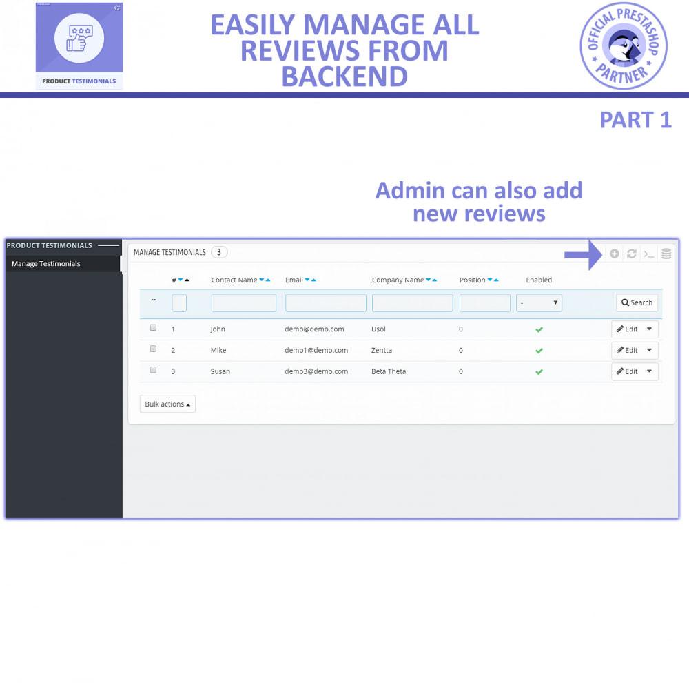 module - Customer Reviews - Customer Reviews + Store Testimonials Module - 5