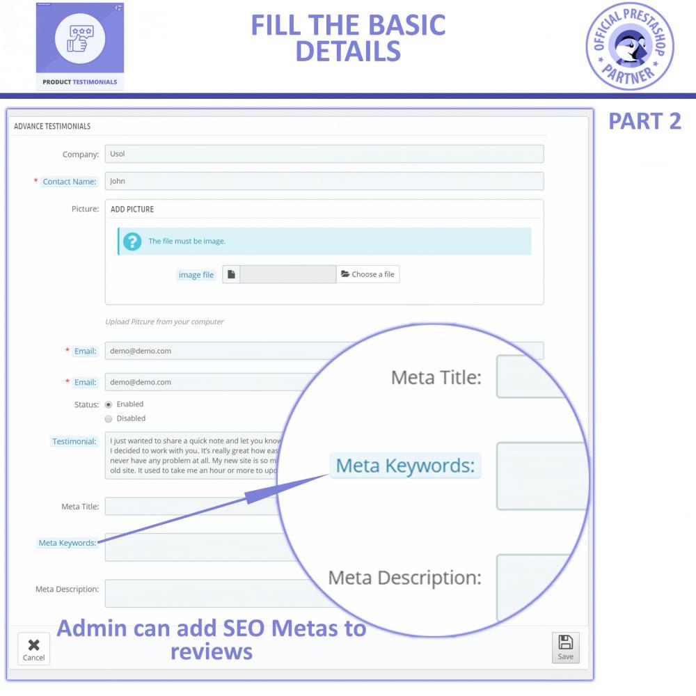 module - Customer Reviews - Customer Reviews + Store Testimonials Module - 6