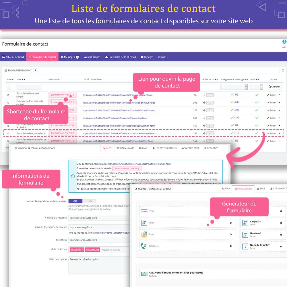module - Formulaires de Contact & Sondages - Contact Form Ultimate – Générateur de formulaires - 8