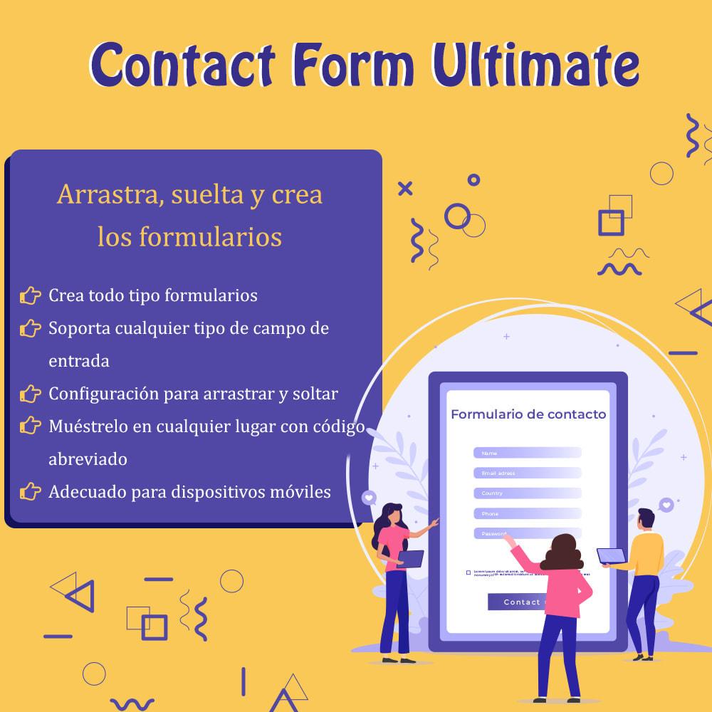 module - Formulario de contacto y Sondeos - Contact Form Ultimate: Arrastra y suelta formularios - 1