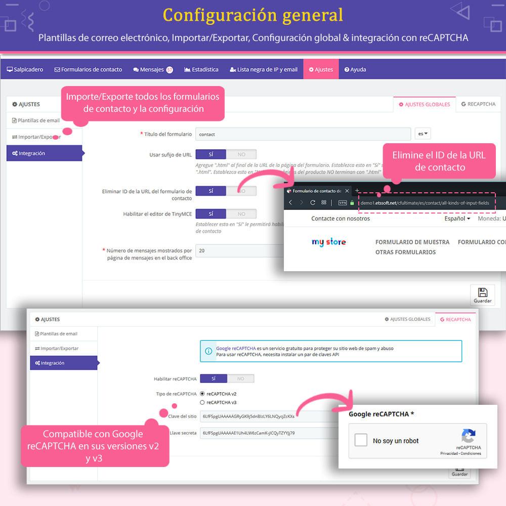 module - Formulario de contacto y Sondeos - Contact Form Ultimate: Arrastra y suelta formularios - 14