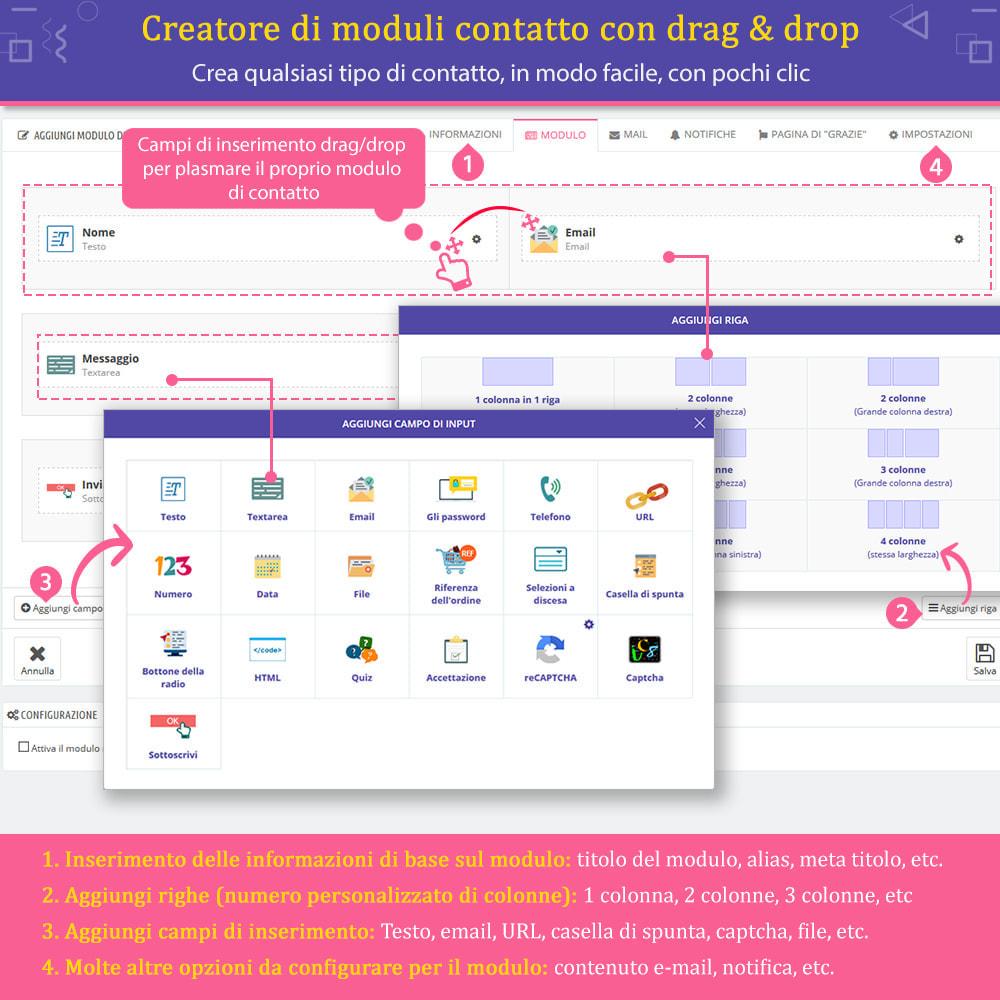 """module - Form di contatto & Questionari - Contact Form Ultimate – Creatore moduli """"Drag & drop"""" - 2"""
