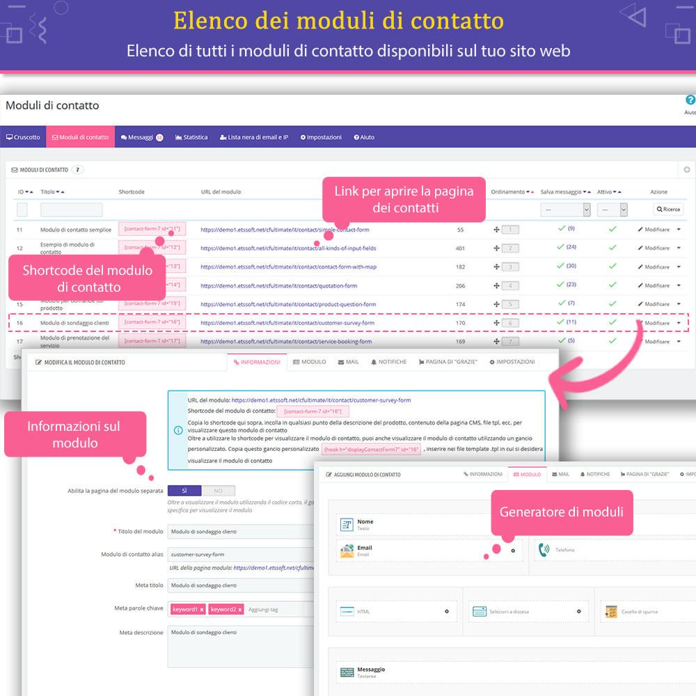 """module - Form di contatto & Questionari - Contact Form Ultimate – Creatore moduli """"Drag & drop"""" - 8"""